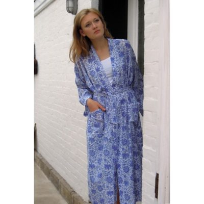 Blockprint dressing gown