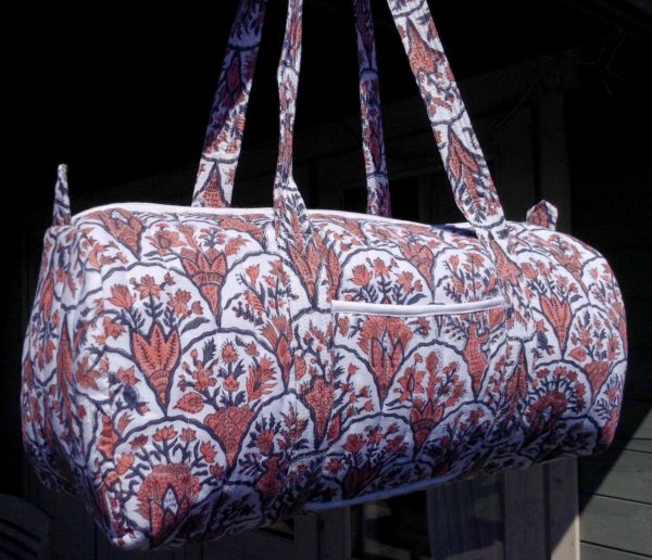 coral travel bag