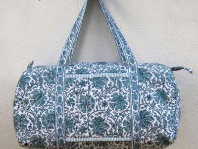 travel bag green flower