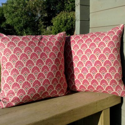 Red cushion cover